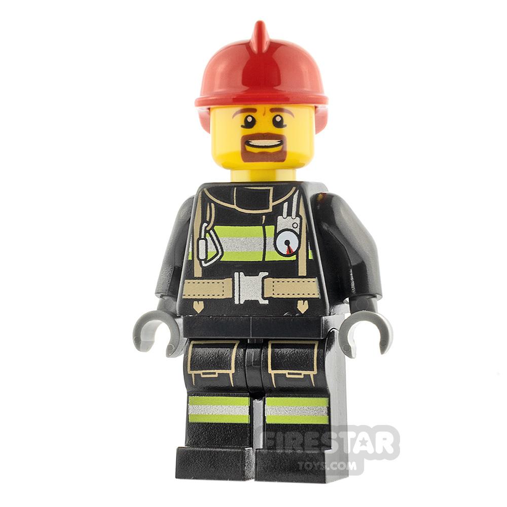 LEGO City Minifigure Fireman Red Helmet
