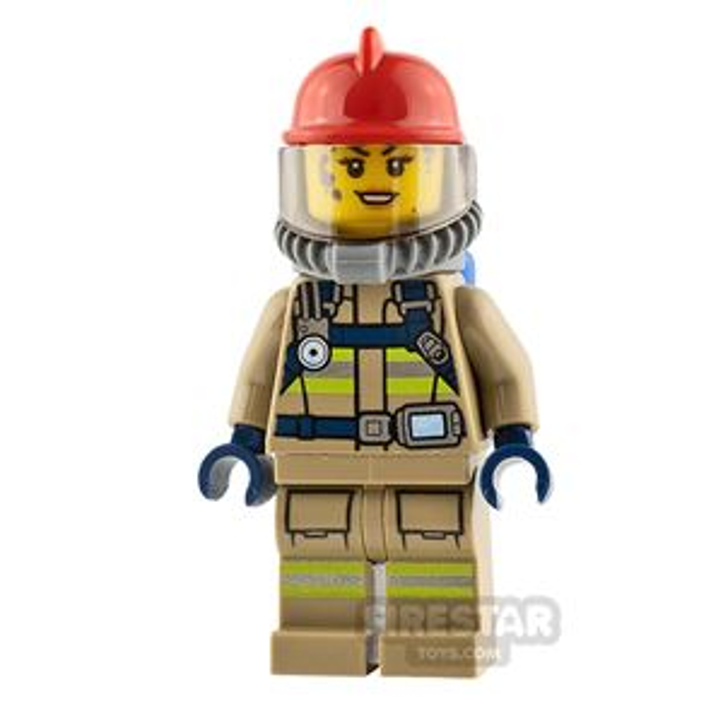 LEGO City Minifigure Firewoman with Breathing Gear
