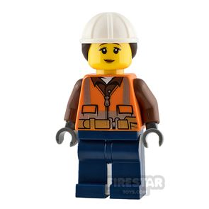 LEGO City Minifigure Construction Worker with Ponytail