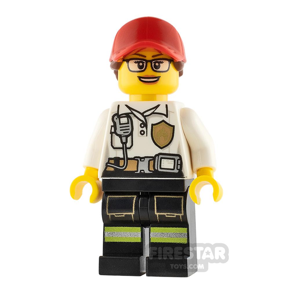 LEGO City Minifigure Firewoman with Badge