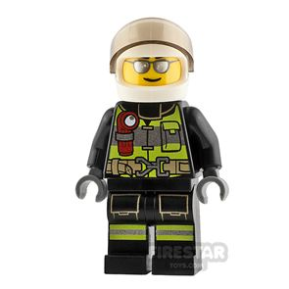 LEGO City Minifigure Fireman with Silver Sunglasses