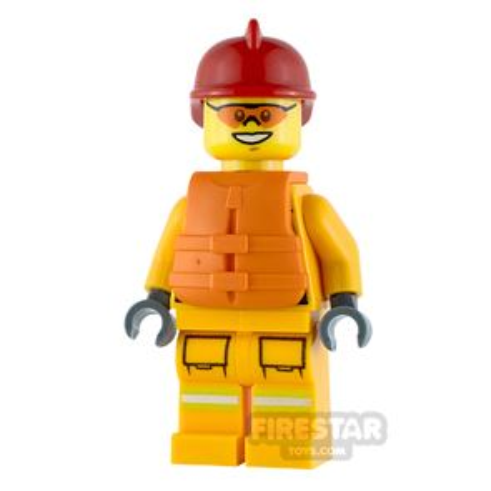 LEGO City Minifigure Fireman with Life Jacket