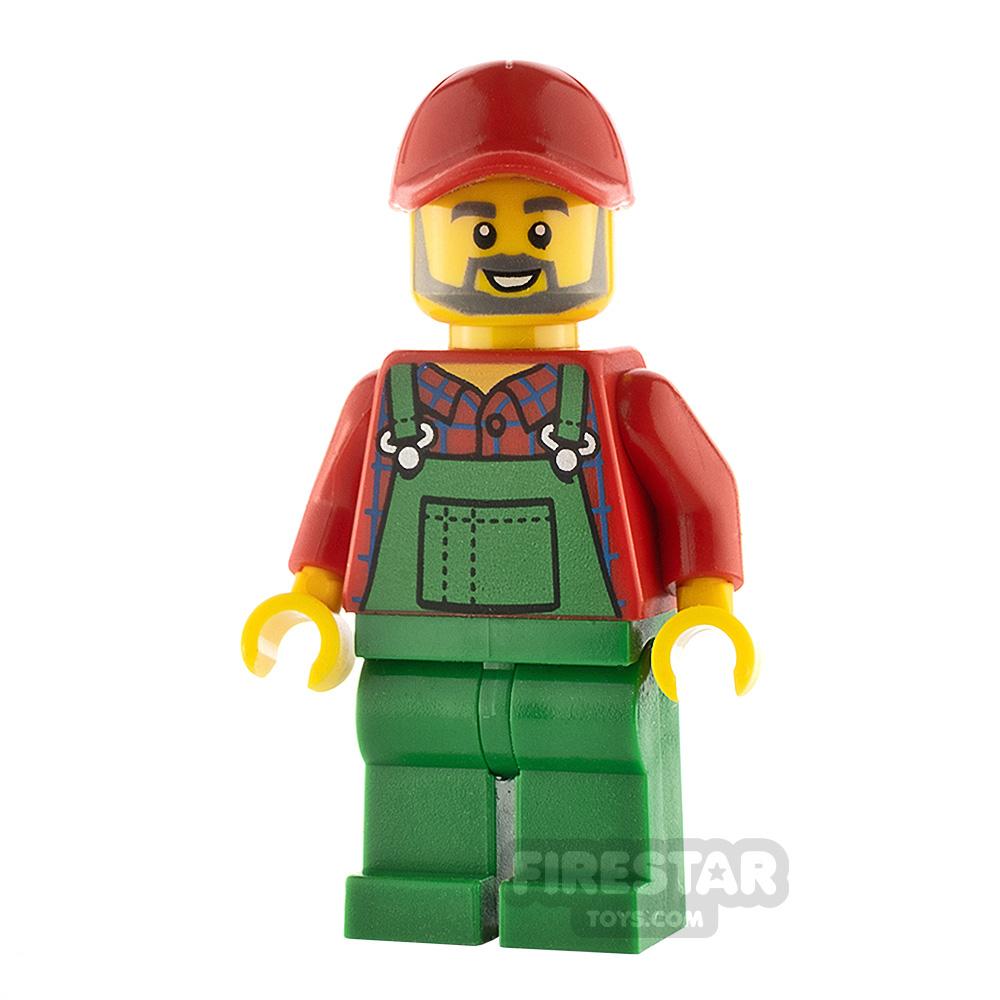 LEGO City Minifigure Farmer Green Overalls