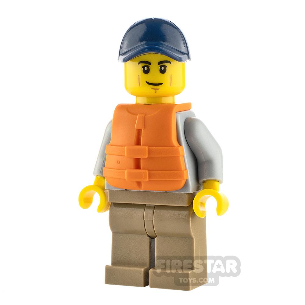 LEGO City Minifigure Kayaker with Life Jacket