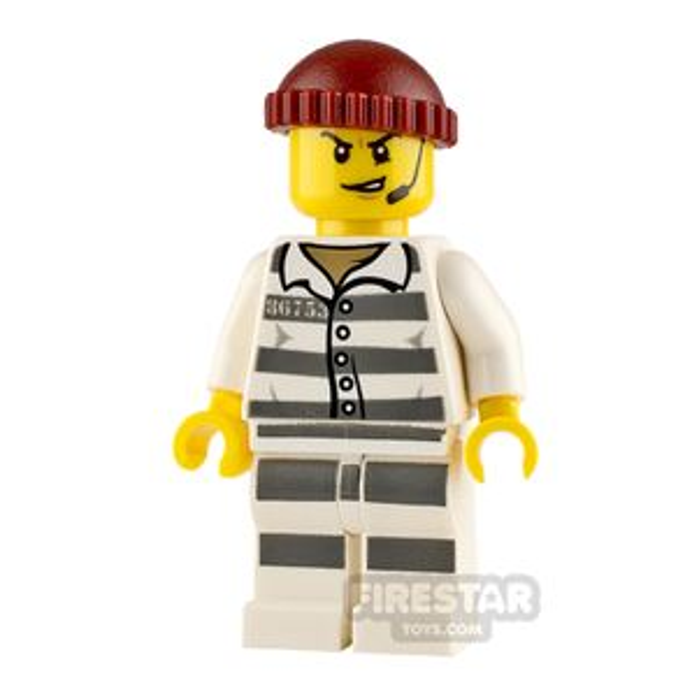 LEGO City Minifigure Prisoner with Headset