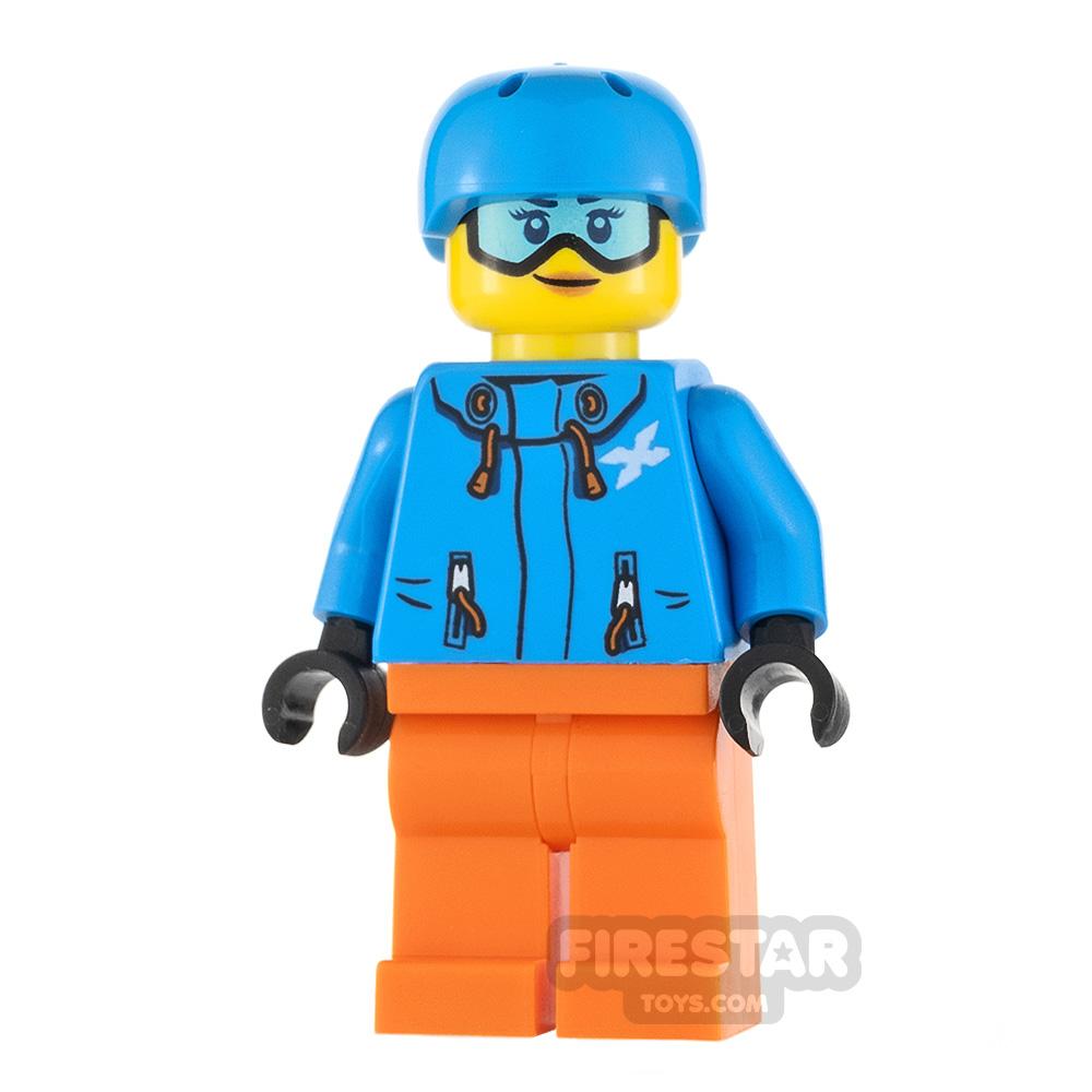 LEGO City Minifigure Skier Dark Azure Jacket