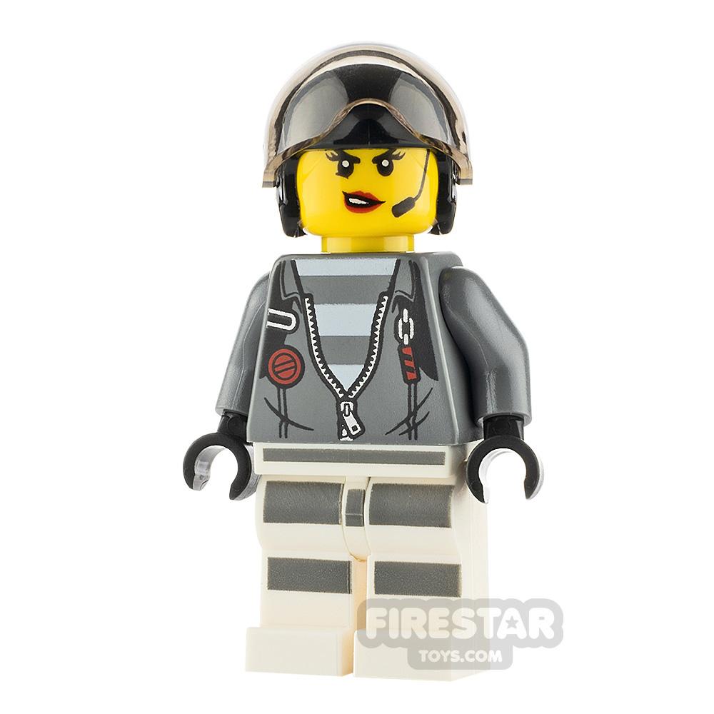 Lego City Minifigure Prisoner Jacket over Prison Stripes
