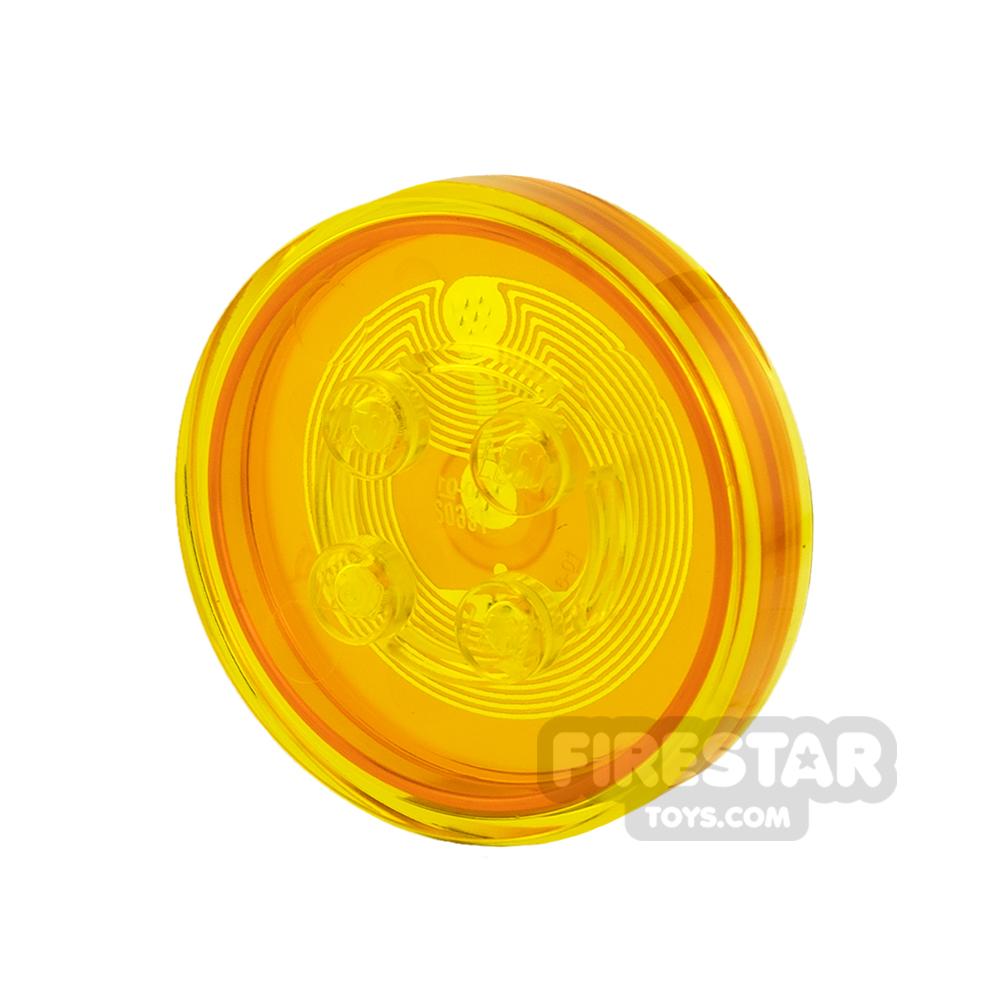 LEGO Dimensions Toy Tag - Plain Tag - Trans Orange
