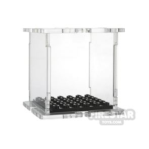Minifigure Display Case 6x6 Trans Clear Base