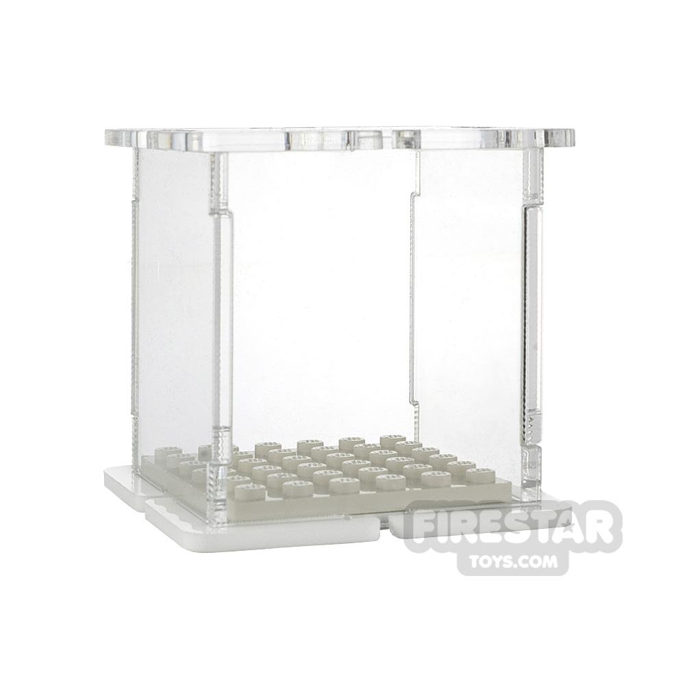 Minifigure Display Case 6x6 White Base
