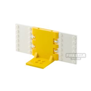 Minifigure Display Stand 2x2 Yellow and White