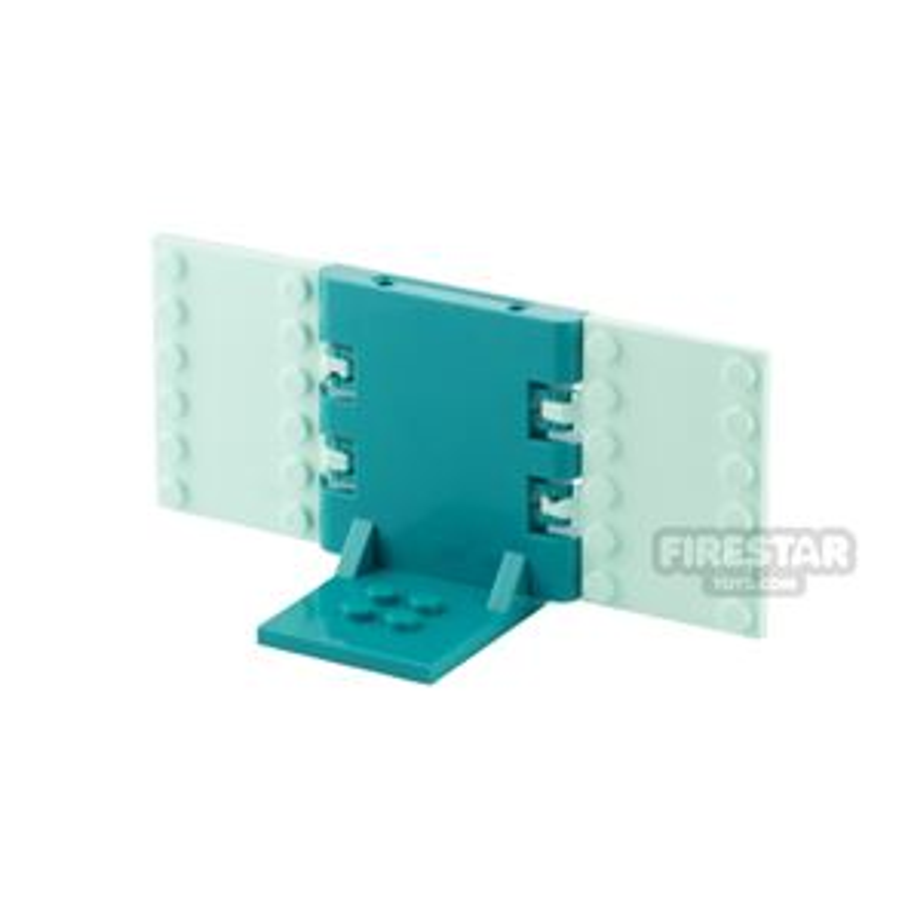 Minifigure Display Stand 2x2 Dark Turquoise and Light Aqua