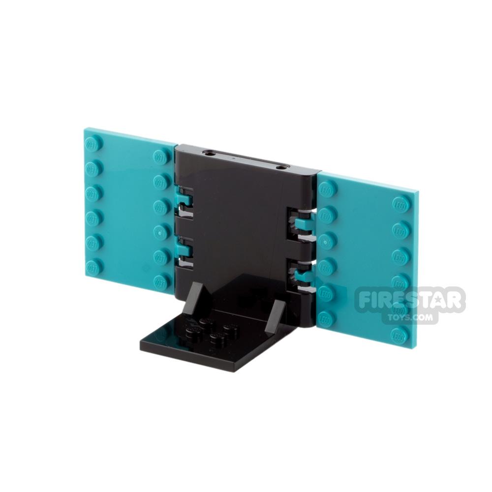 Minifigure Display Stand 2x2 Black and Dark Turquoise