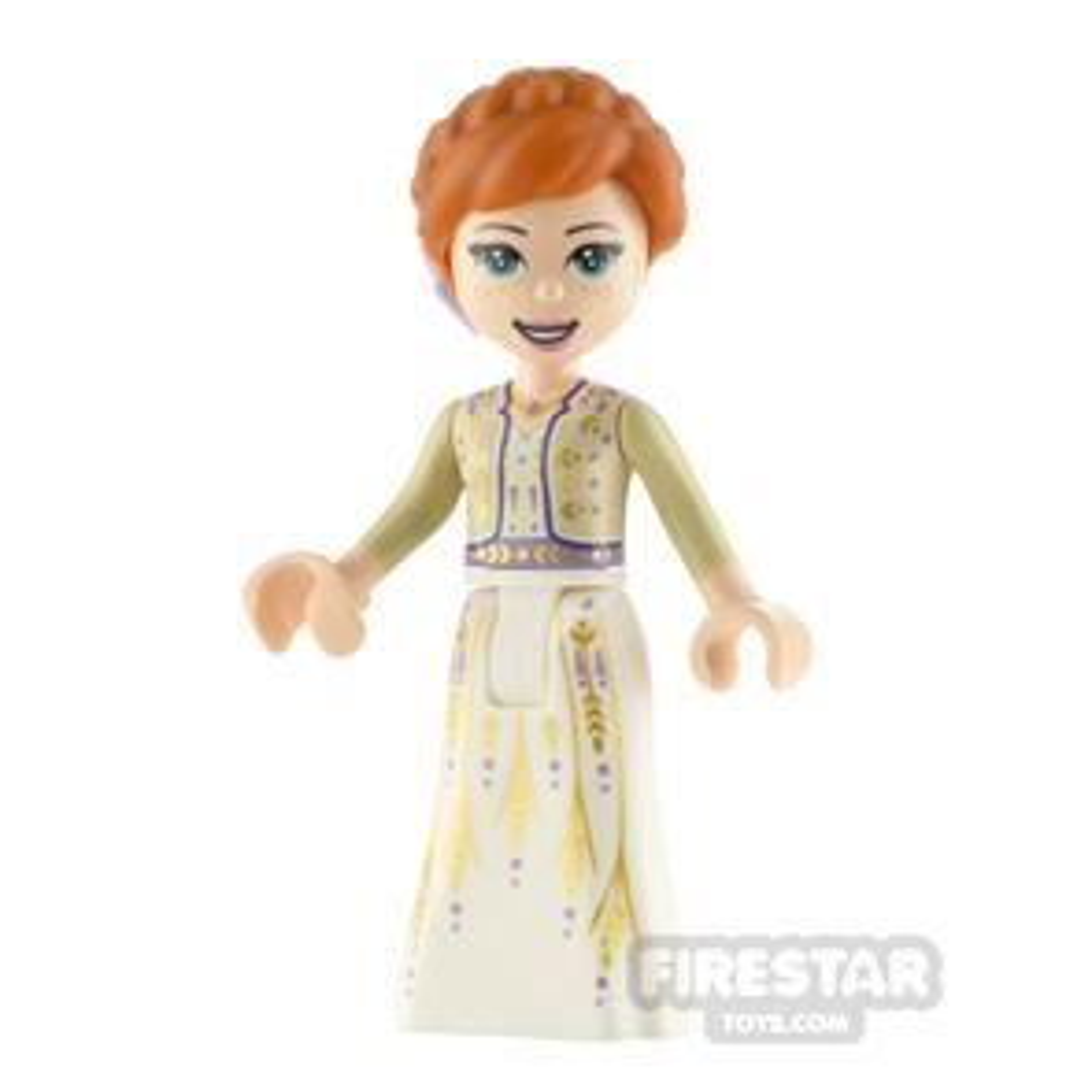 LEGO Disney Princess Minifigure Anna White Dress