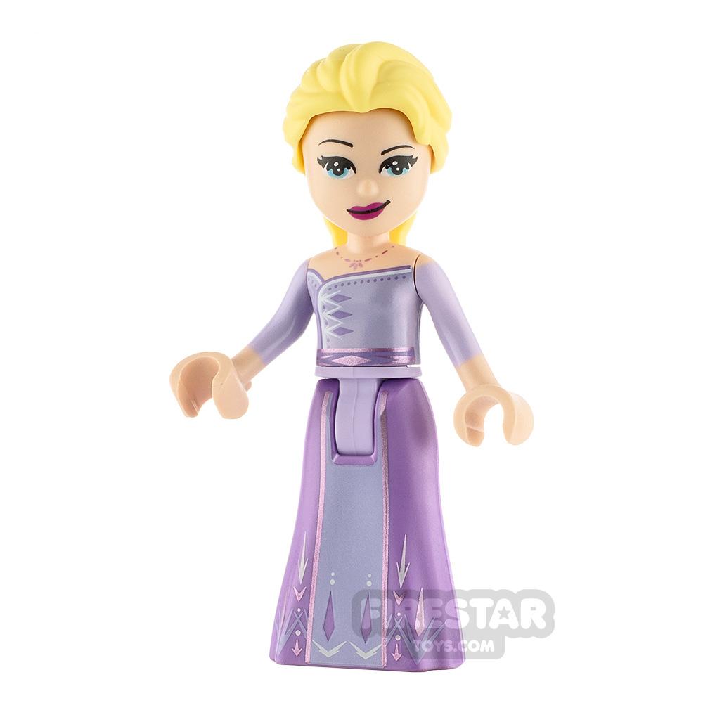 LEGO Disney Princess Minifigure Frozen Elsa Lavender Dress