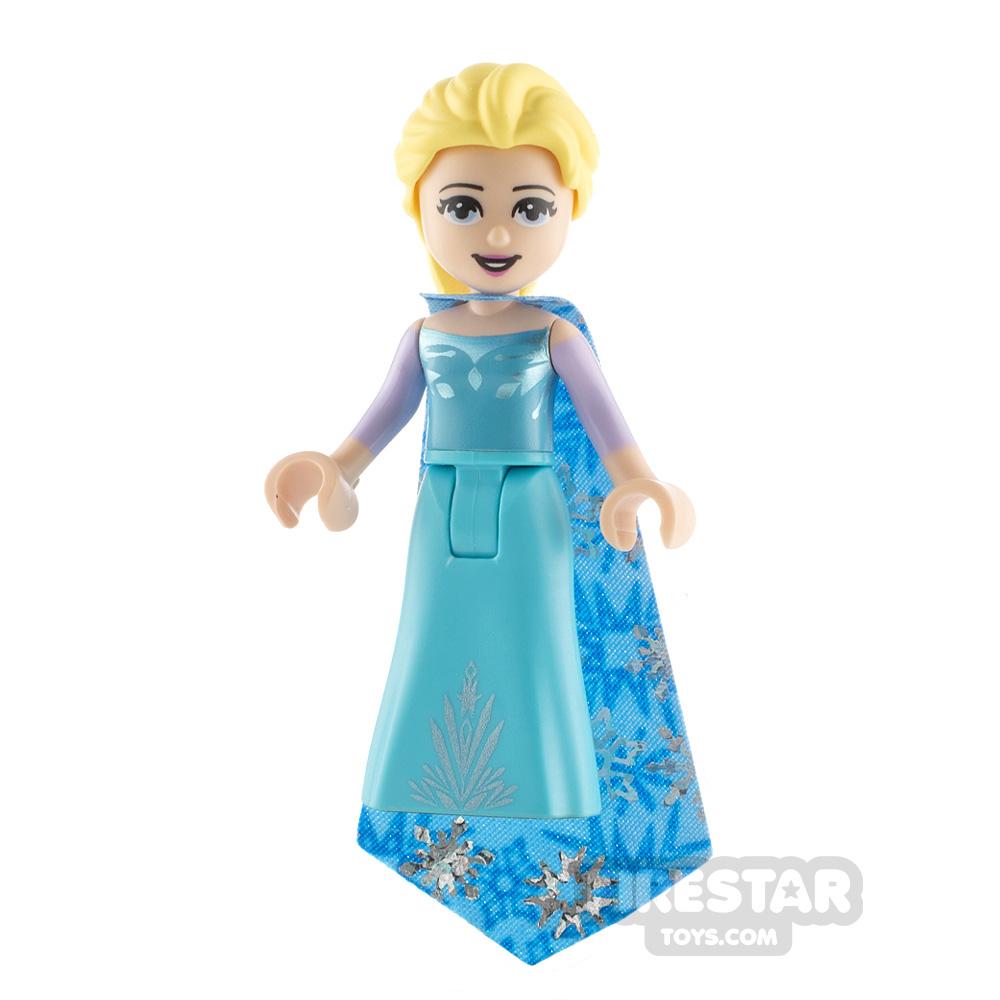 LEGO Disney Princess Minifigure Frozen Elsa Snowflakes Cape
