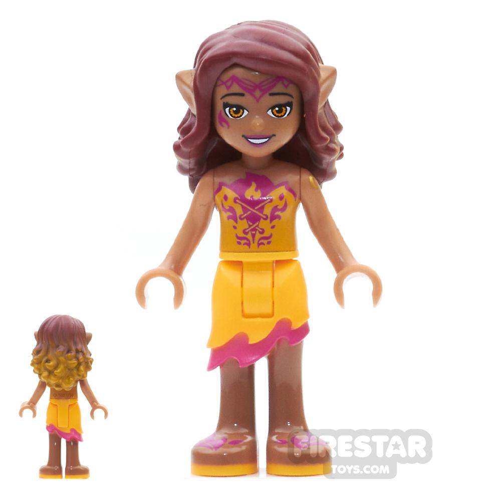 LEGO Elves Mini Figure - Azari Firedancer - Bright Light Orange