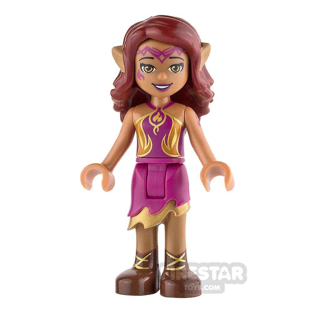 LEGO Elves Mini Figure - Azari Firedancer - Magenta and Gold