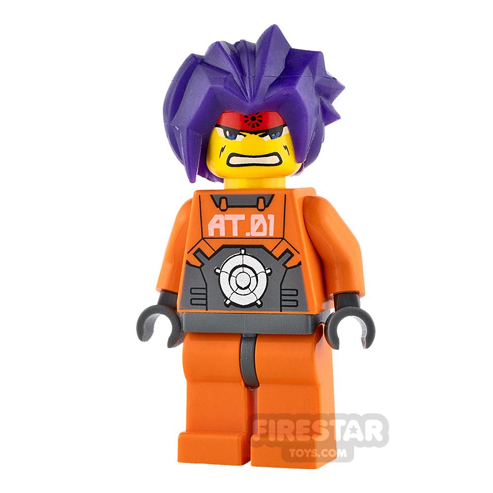 LEGO Exo Force Mini Figure - Ryo - Purple Hair