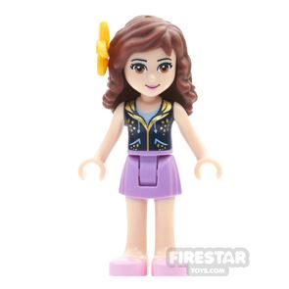 LEGO Friends Mini Figure - Olivia - Dark Blue And Gold Top