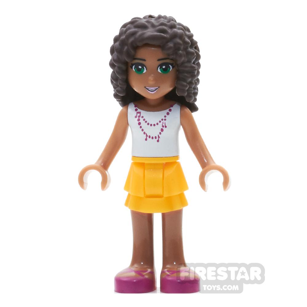 LEGO Friends Mini Figure - Andrea - Dark Pink Bow