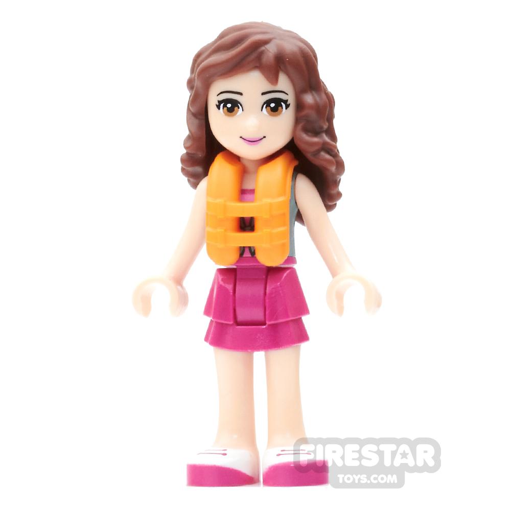 LEGO Friends Mini Figure - Olivia - Sand Green Top and Life Vest