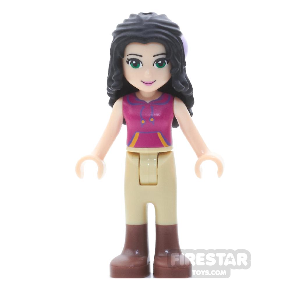 LEGO Friends Mini Figure - Emma - Tan Riding Pants, Magenta Top