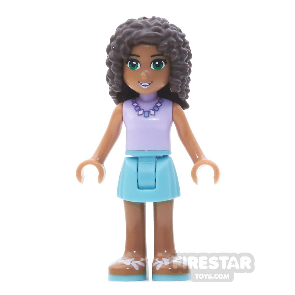 LEGO Friends Mini Figure - Andrea - Medium Azure Skirt, Lavender Top