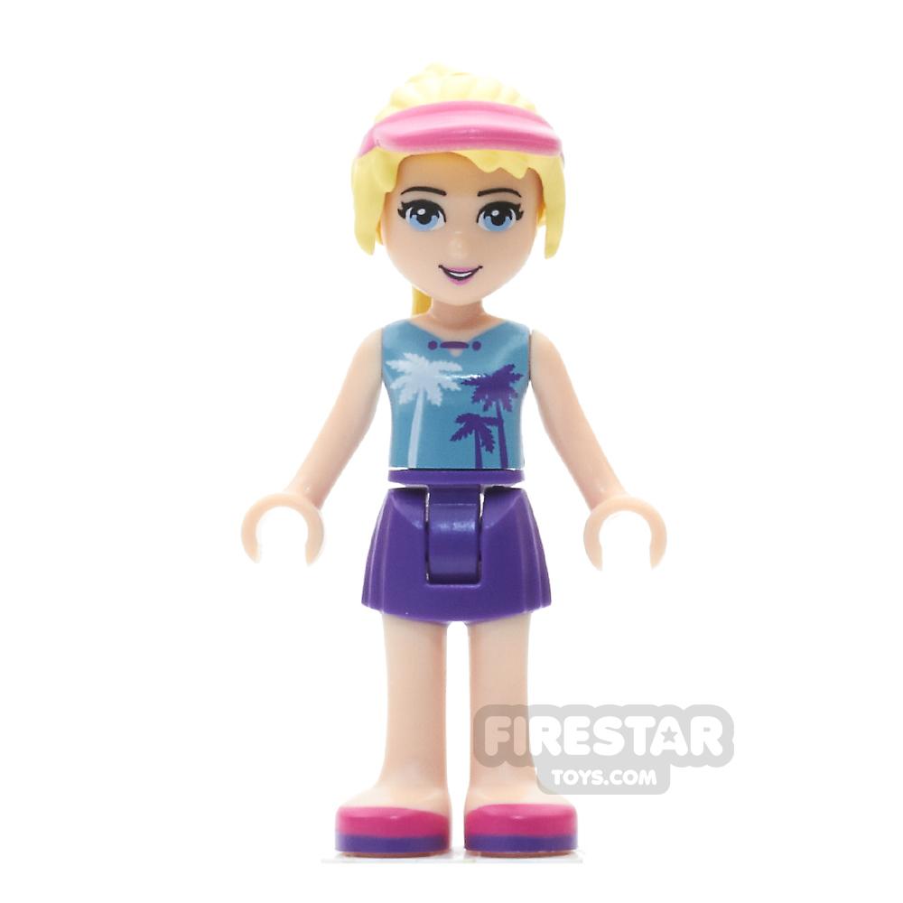 LEGO Friends Mini Figure - Stephanie - Purple Skirt, Medium Azure Top