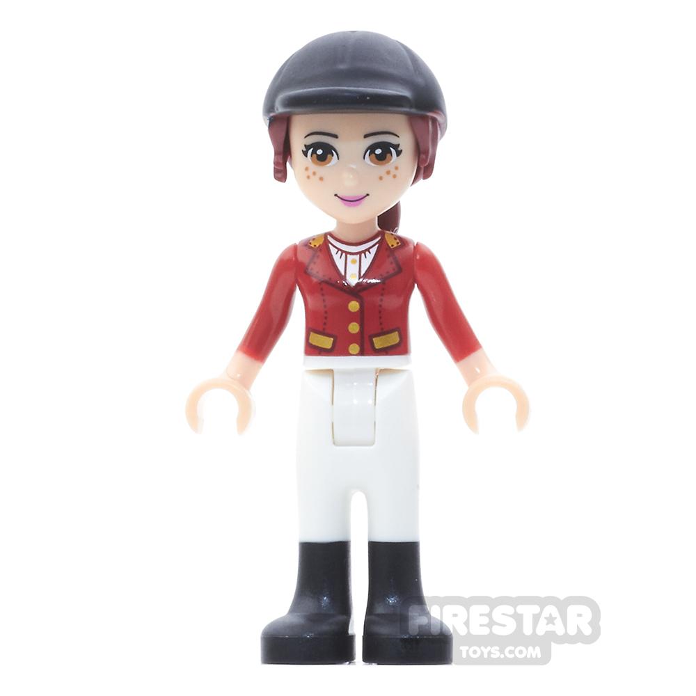 LEGO Friends Mini Figure - Mia -  White Riding Pants, Red Jacket