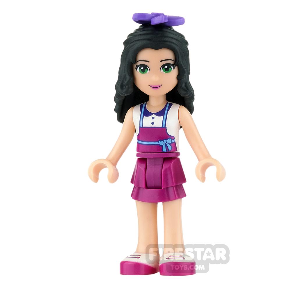 LEGO Friends Mini Figure - Emma - White Top with Magenta Apron