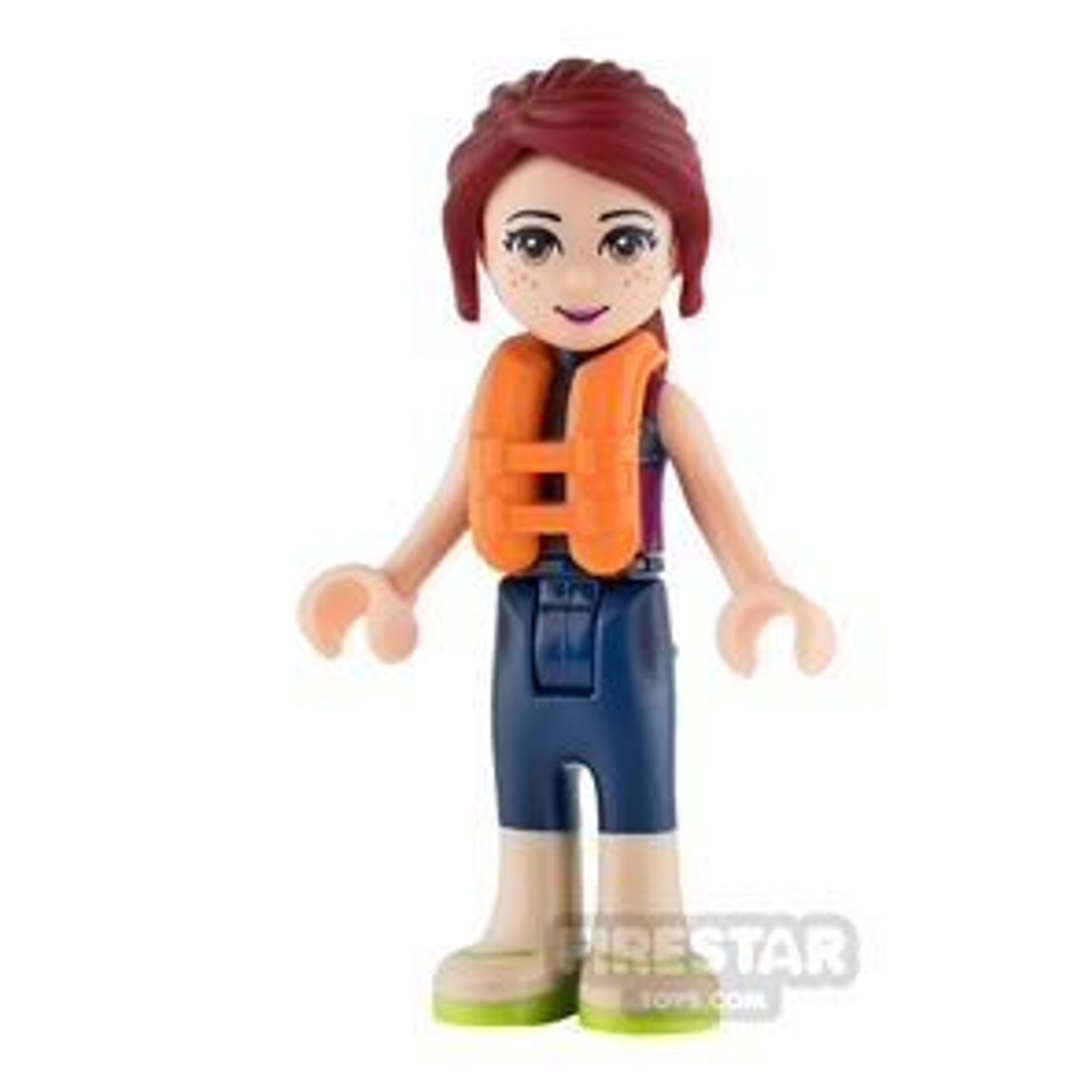 LEGO Friends Mini Figure - Mia - Dark Blue Wetsuit and Life Jacket