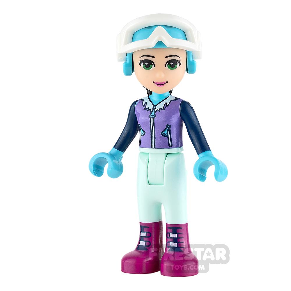 LEGO Friends Mini Figure - Emma - Medium Lavender Ski Vest