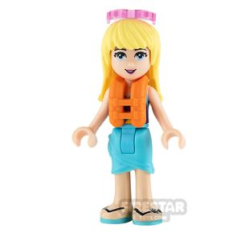 LEGO Friends Mini Figure - Stephanie - Medium Azure Wrap Skirt