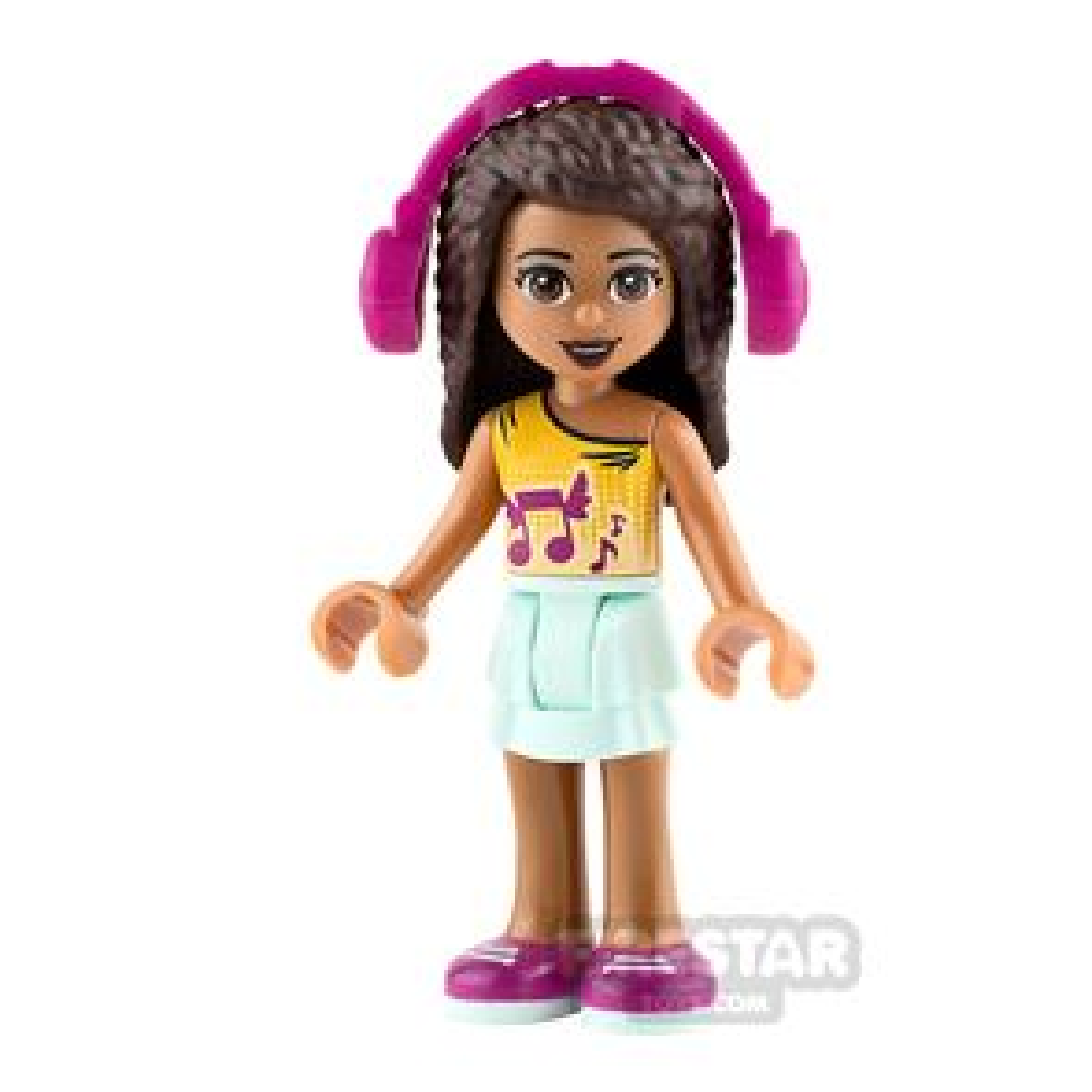 LEGO Friends Mini Figure - Andrea - Orange Top with Music Notes