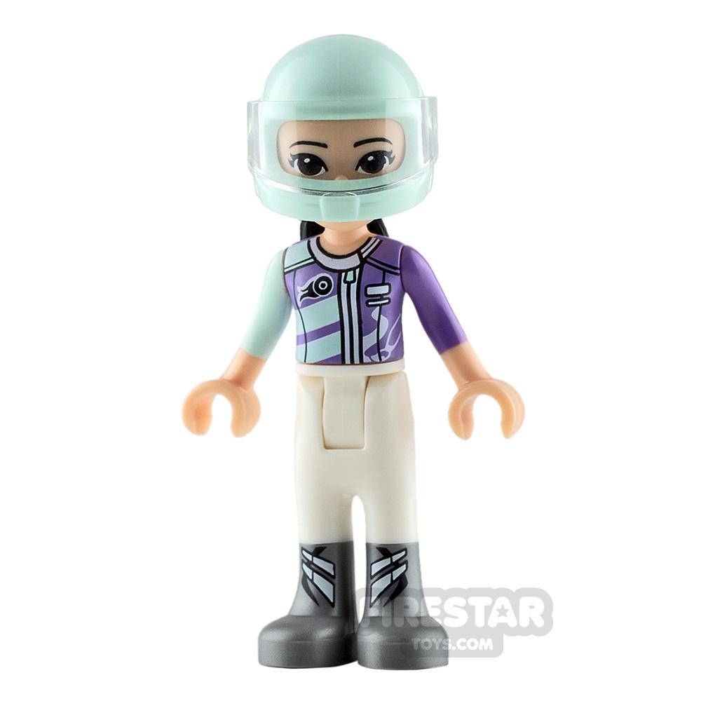 LEGO Friends Mini Figure - Emma - Medium Lavender Racing Jacket