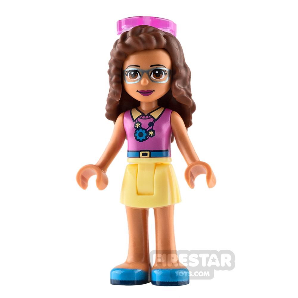 LEGO Friends Minifigure Olivia Bright Light Yellow Skirt