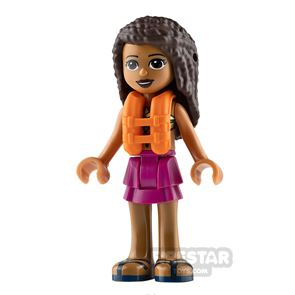 LEGO Friends Mini Figure - Andrea - Magenta Layered Skirt