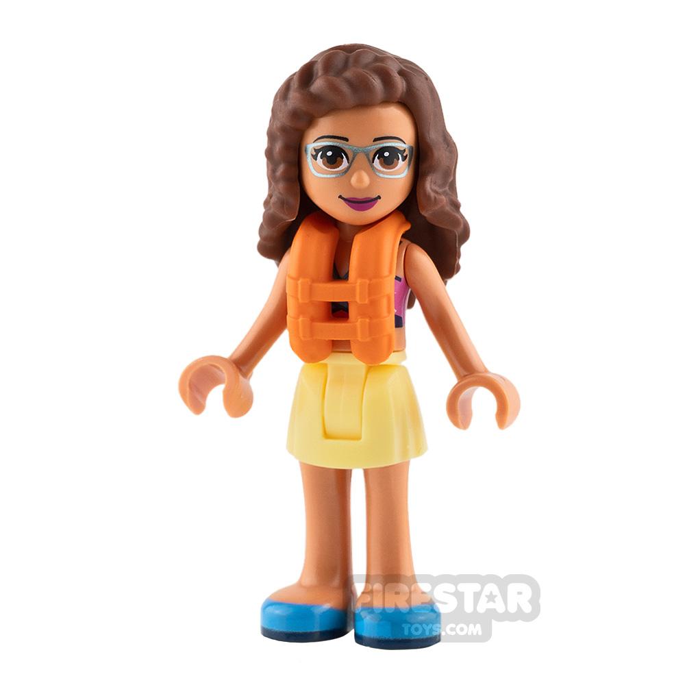 LEGO Friends Mini Figure - Olivia - Dark Azure Swimsuit
