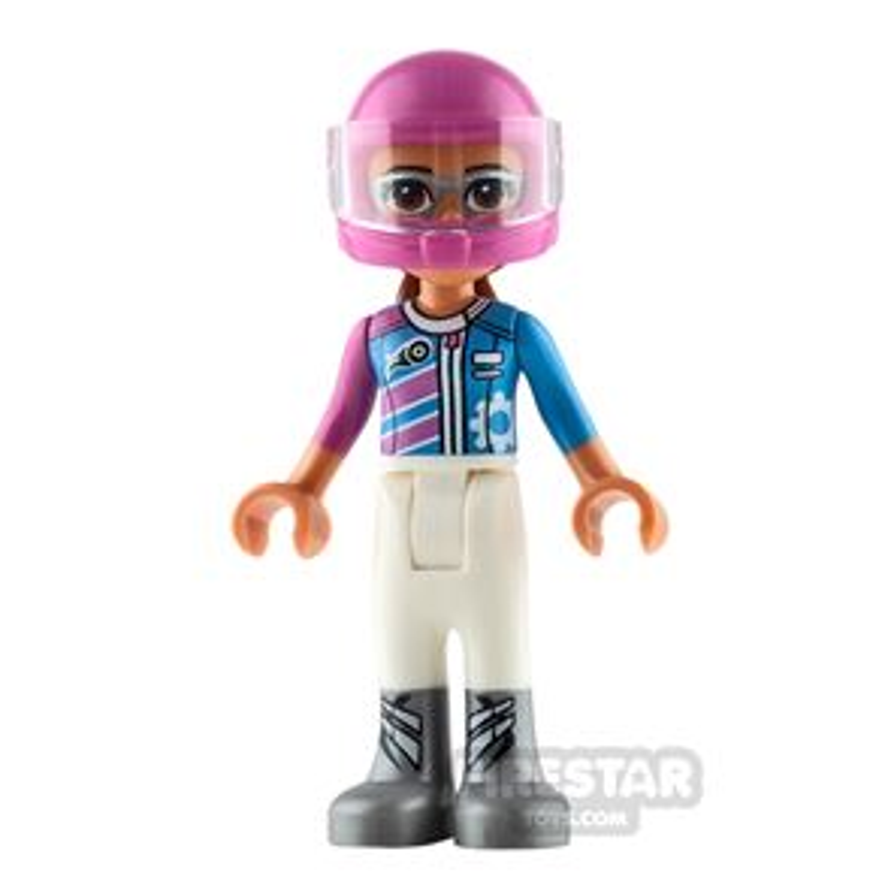 LEGO Friends Mini Figure - Olivia - Dark Pink Racing Jacket