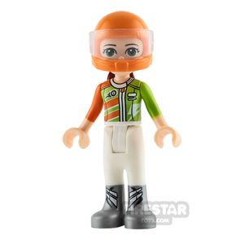 LEGO Friends Mini Figure - Mia - Orange Racing Jacket
