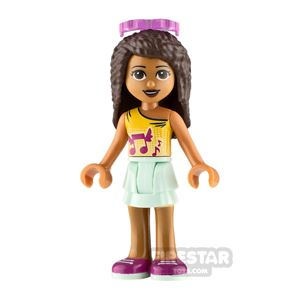 LEGO Friends Minifigure Andrea Top with Music Notes