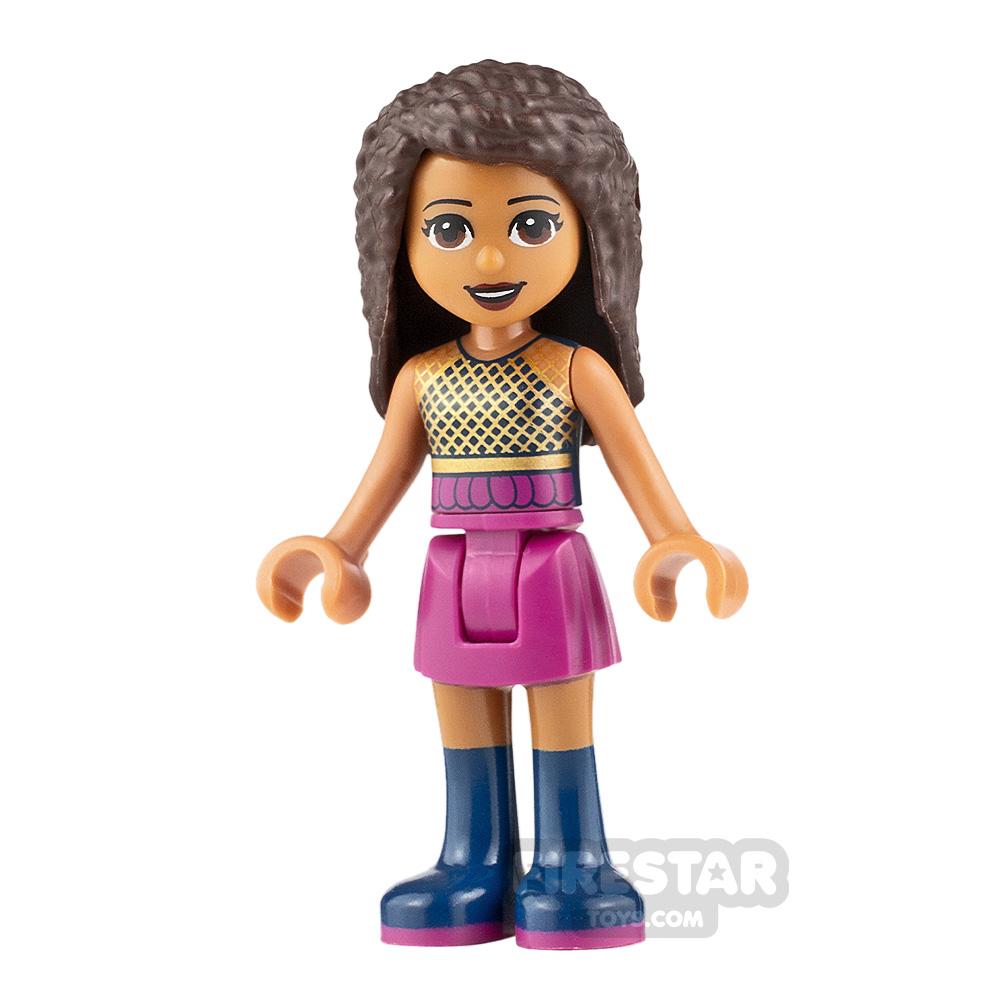 LEGO Friends Minifigure Andrea Gold Mesh Top