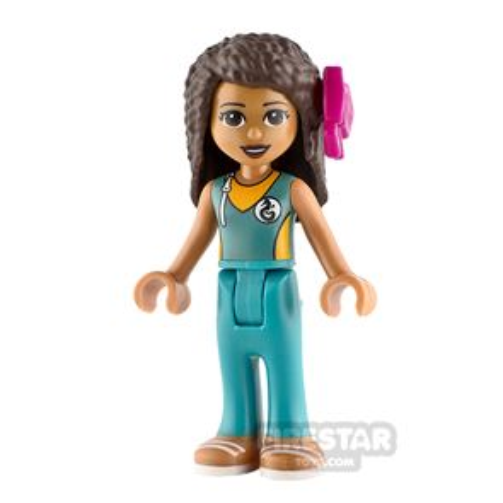 LEGO Friends Minifigure Andrea Dark Turquoise Wetsuit