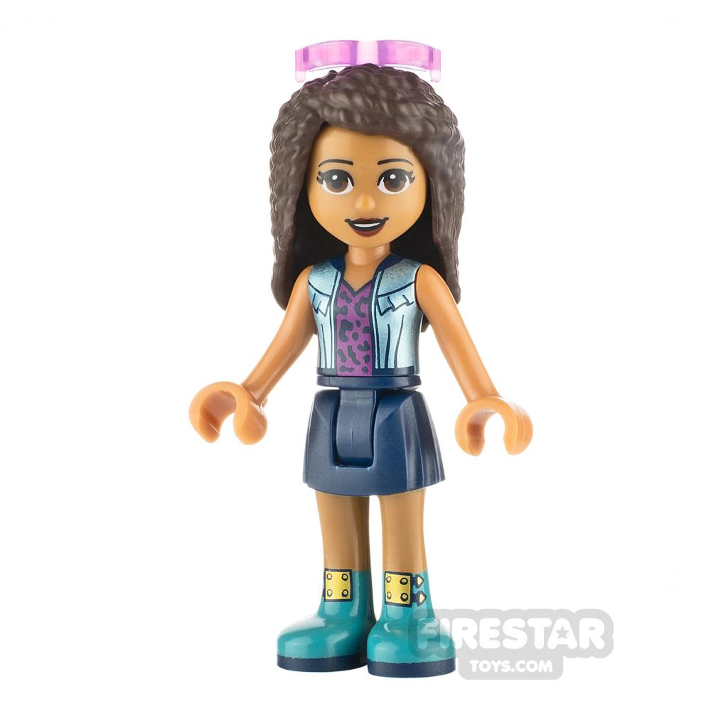 LEGO Friends Minifigure Andrea Shiny Blue Vest