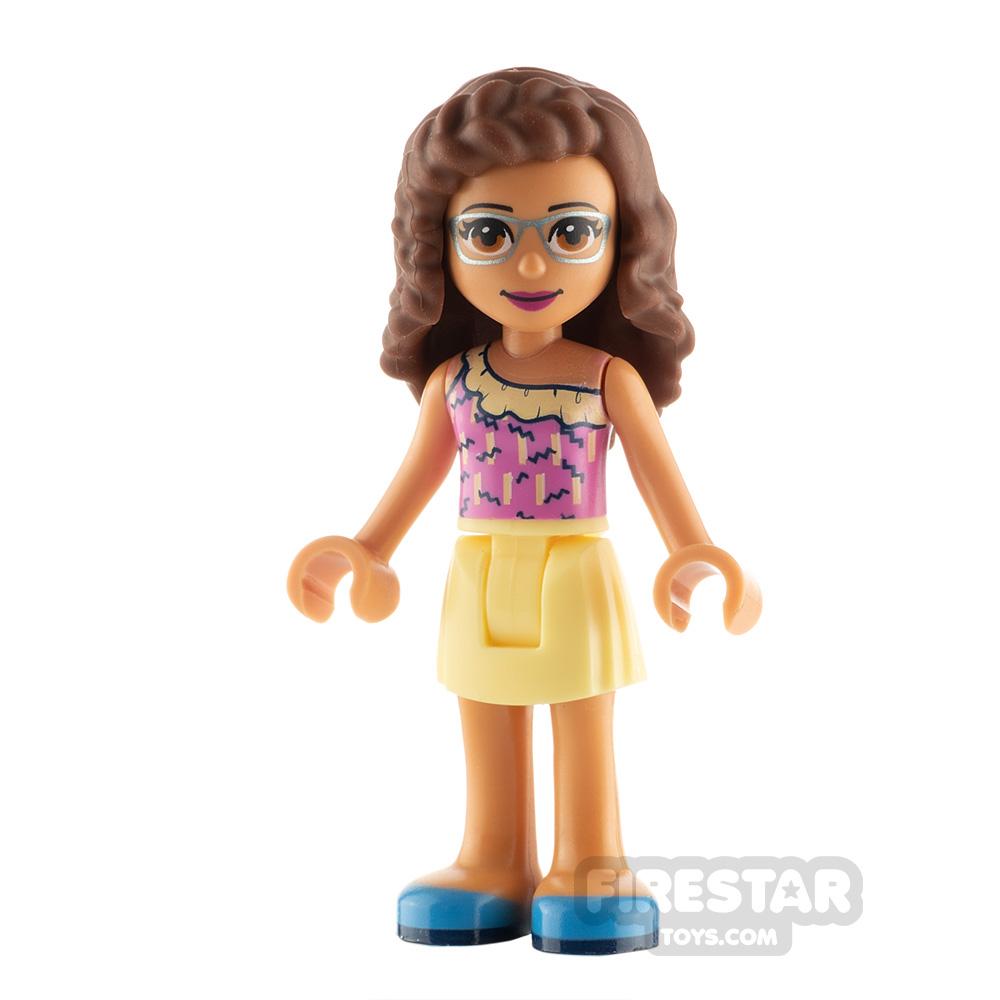 LEGO Friends Minifigure Olivia Bright Yellow Skirt