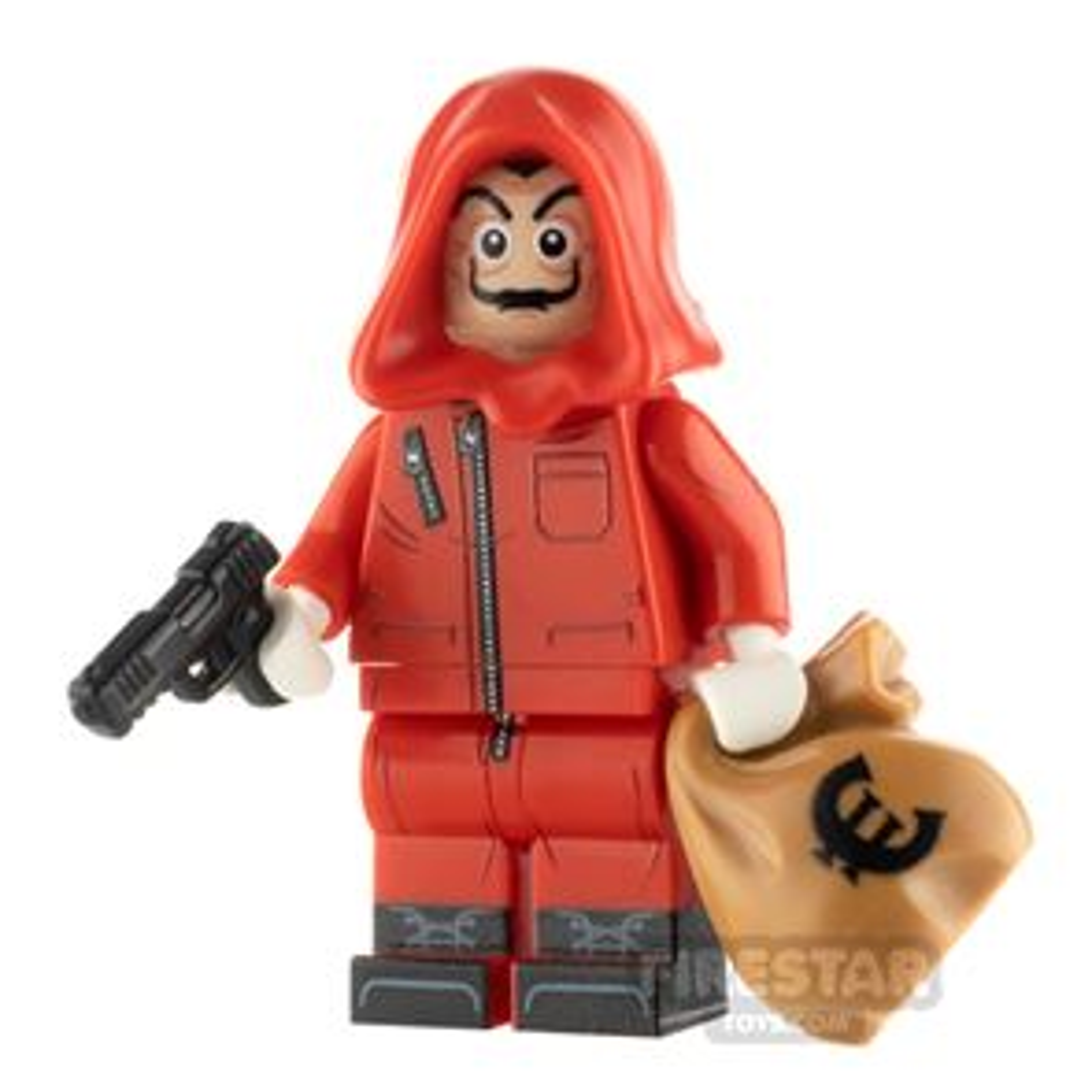Custom Design Minifigure Masked Bank Robber