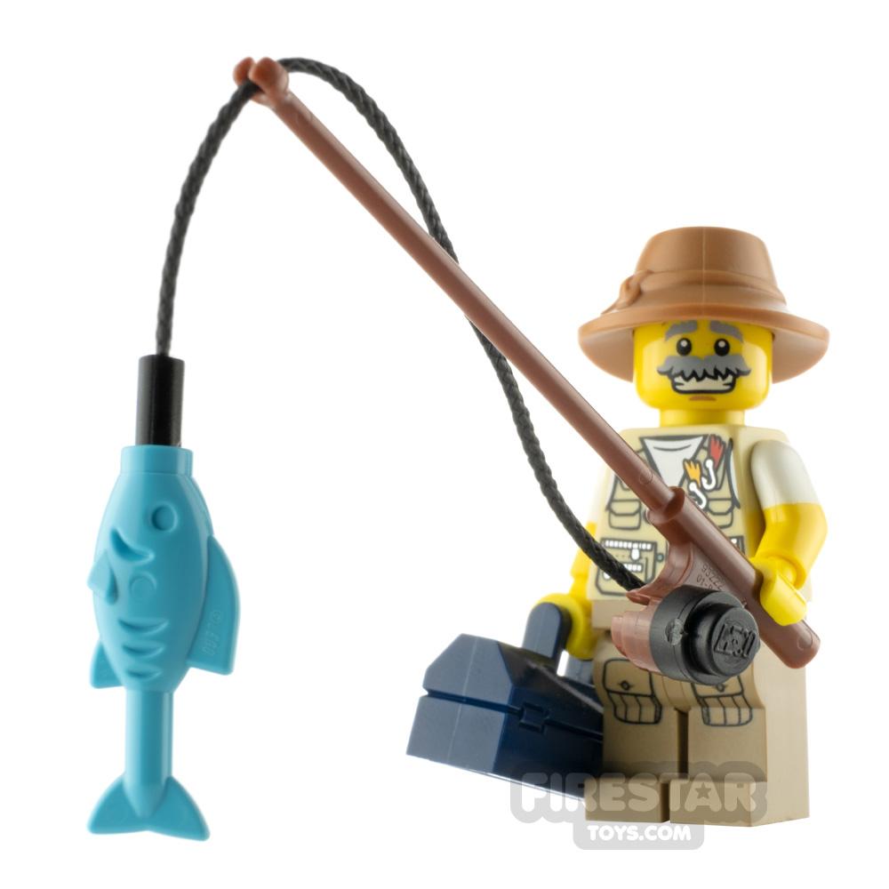 Custom Minifigure Fishing Guy