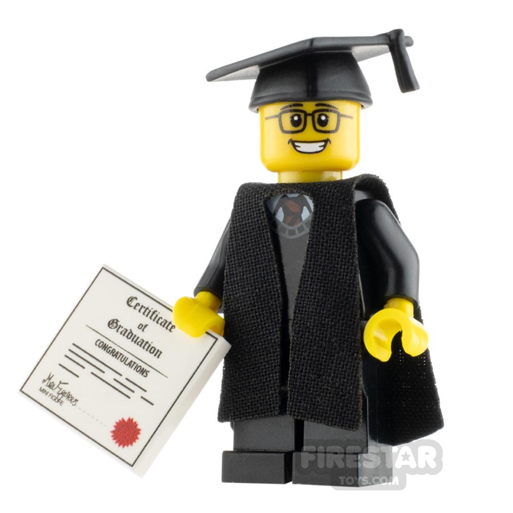 Custom Design Mini Figure - Graduate - Male