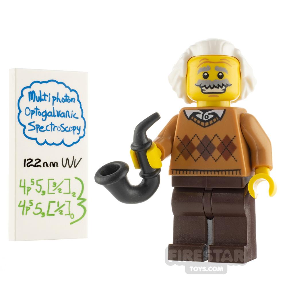 Custom Minifigure Albert Einstein Yellow